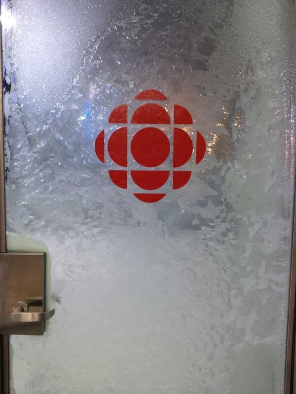 Woah...@CBCKW891's door this morning! http://t.co/AYfOZPOBNK