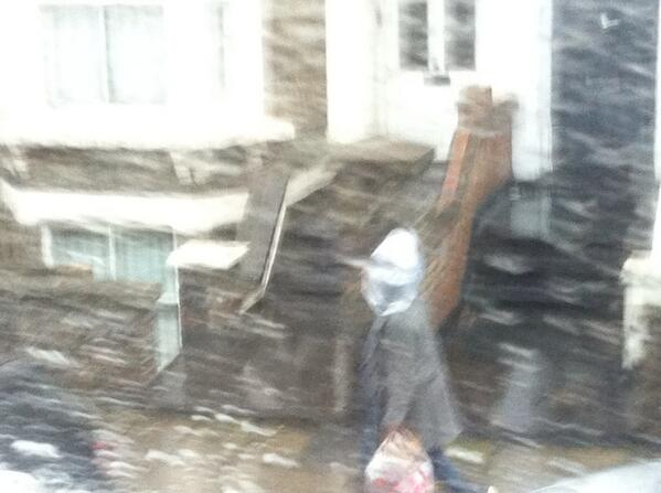 Trudging down the street with a Tesco plastic bag on your head to shelter from the rain. Welcome to Britain. http://t.co/h2GhWSrunJ