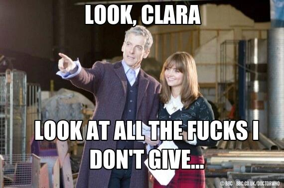 Stop whining, Whovians. Capaldi doesn't care. #DoctorWho http://t.co/n66HeGbKWC