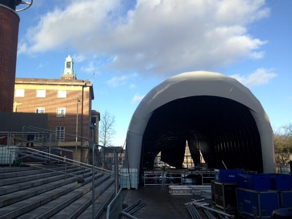 The stage is being prepared for the @BBCStargazing event @TheForumNorwich tomorrow! http://t.co/quvyyXkeJb http://t.co/xglvFsXzL6
