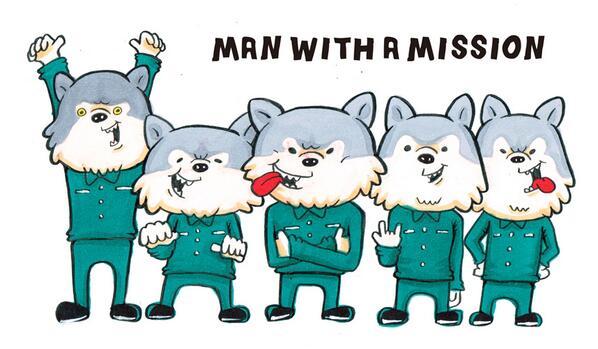 アリムラモハ On Twitter 狼描いてたつもりがマンウィズアミッション