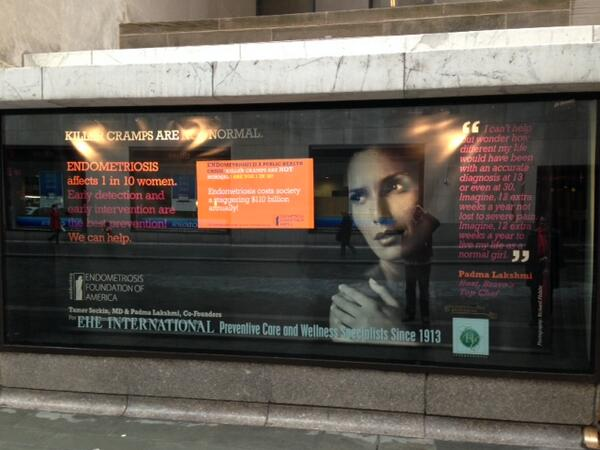 Killer Cramps Are NOT Normal! Check out the EFA's campaign window at 10 Rockefeller Plaza through February 3rd! http://t.co/olzGpAjg4A