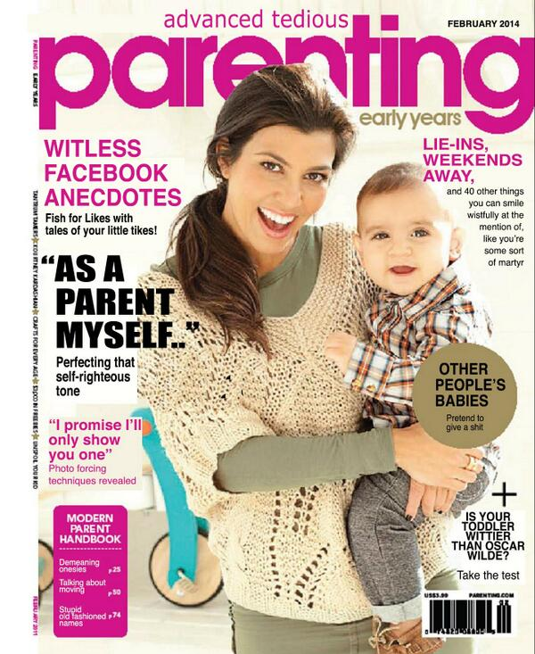 Love this - spoof Parenting magazine, by @Kittus http://t.co/QLQqqdOzEf - can think of one 'my career as a parent' candidate for front cover