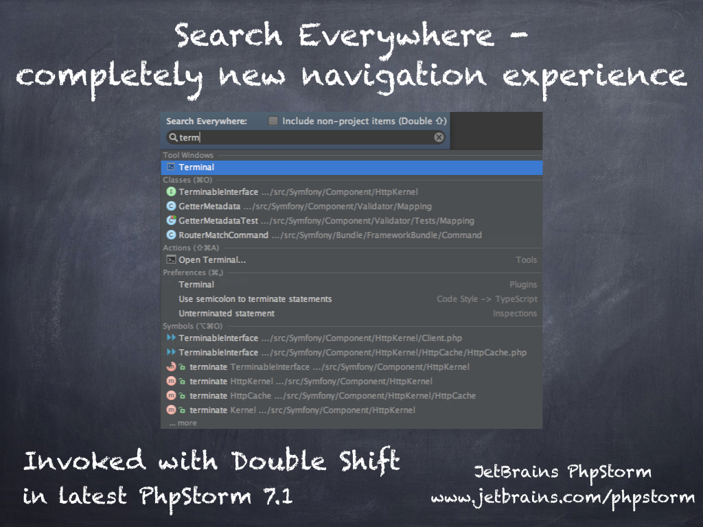 Phpstorm On Twitter Try Search Everywhere In Phpstorm 71 Invoked