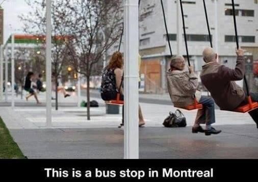 Belediye başkan adaylarımızdan böyle otobüs durakları istesek? Kızarlar mı:) Montreal Belediyesi yapmış. Çalışmış:) http://t.co/OxrhasuF2A