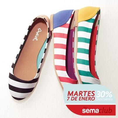 Los socios de #SemaClub pueden disfrutar hoy de nuestro 30% de #descuento en calzados. Que tal estas #flats? http://t.co/zPgzpQxGGn