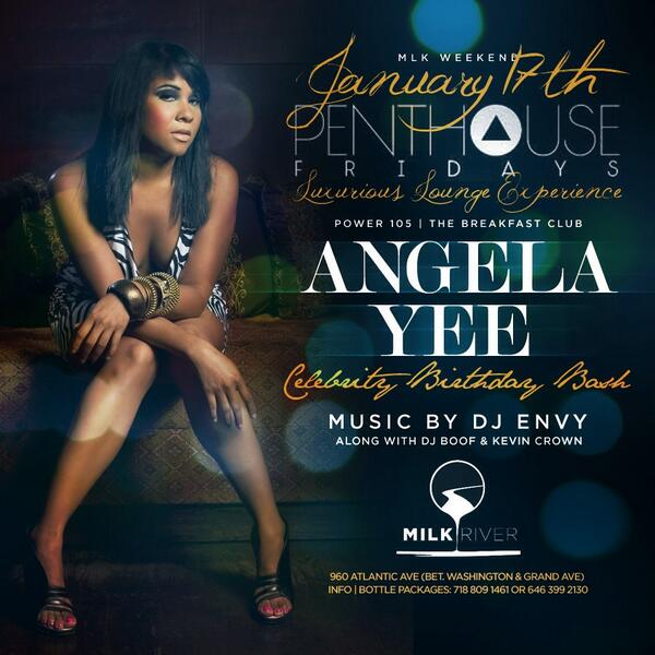 This Friday @angelayee celebrates her bday at Milk River.. Music by @djenvy and of course yours truly! Modddd... http://t.co/jlmipsNy7d