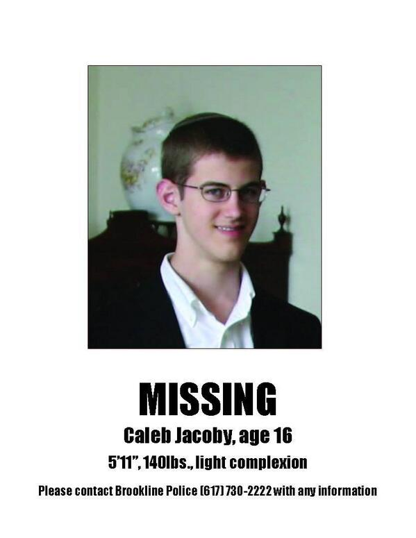MISSING TEEN: Please help my friend @Jeff_Jacoby and @debbyj18 find their son and nephew. Thoughts and prayers... http://t.co/3BeYVWmRmR