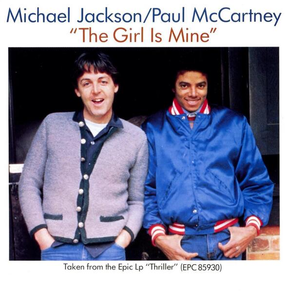#OnThisDay, in 1983, The Girl Is Mine by MJ and Paul McCartney peaks at No #1 on the Billboard Music Hot 100 Chart http://t.co/D10jjyz7Cy