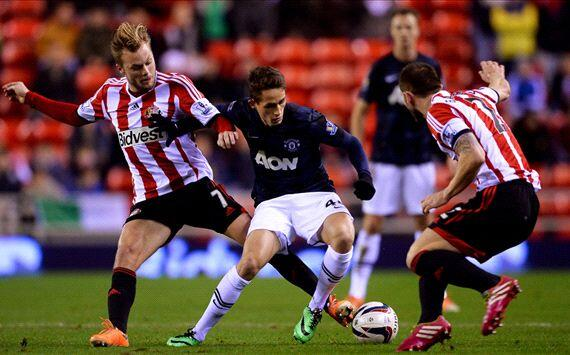 Januzaj was Man Uniteds standout player in the Capital One Cup defeat at Sunderland [Individual highlights]
