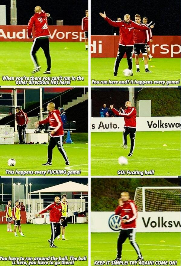 Peps intense Bayern training session in Doha, screams this happens in every f***ing game! at players