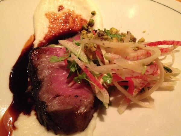 """Red cooked"" 40-day dry aged strip loin by @swiftsblade. #indiechefs http://t.co/c5hbW0jHV5"