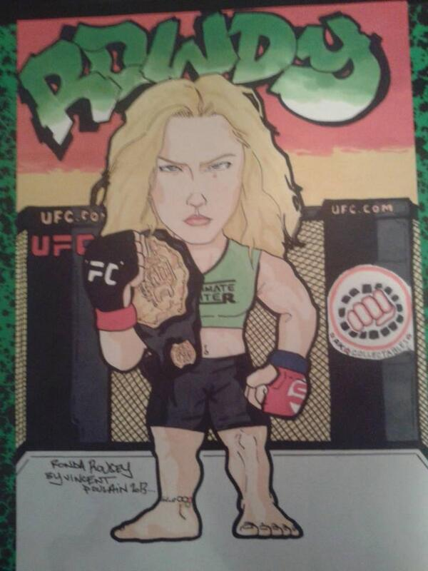 My gift to @ajklarfe my drawing @RondaRousey  by a French fan @Vincenthury Happy new year my friend