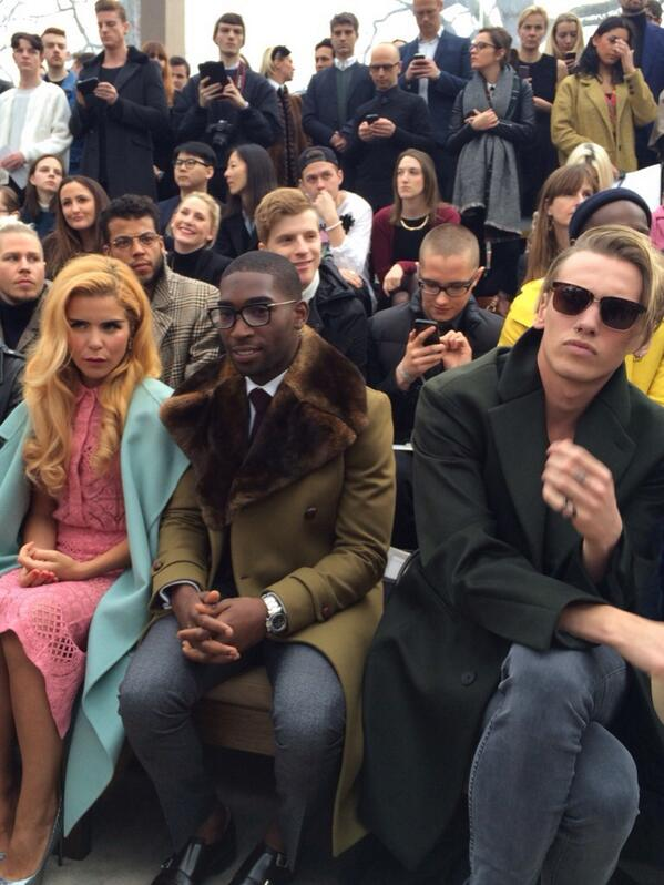 39bb7da0495 palomafaith tinietempah amp jamiebower front row at the burberry prorsum menswear  a w14 show lcm