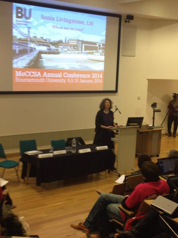 Sonia Livingstone on 'where are we now' #MeCCSA2014 http://t.co/X9fO9CAnfB