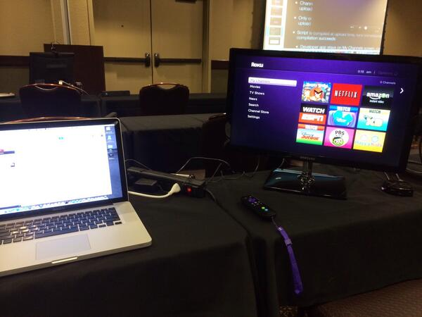 Jeff Kelly's setup for Roku class at CodeMash