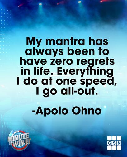 Happy #humpday Minuteers. Here is some wisdom from @ApoloOhno to help you make it through. http://t.co/1vwBHqFWeR