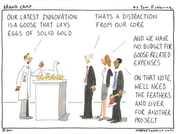 Brilliant! RT @paulhodgkin: Innovation - doesn't it just drive you crazy? From the great @tomfishburne http://t.co/Nau5vojvmP