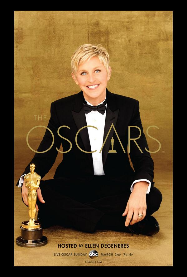 Ellen DeGeneres Tweets Adorable Oscar Promos