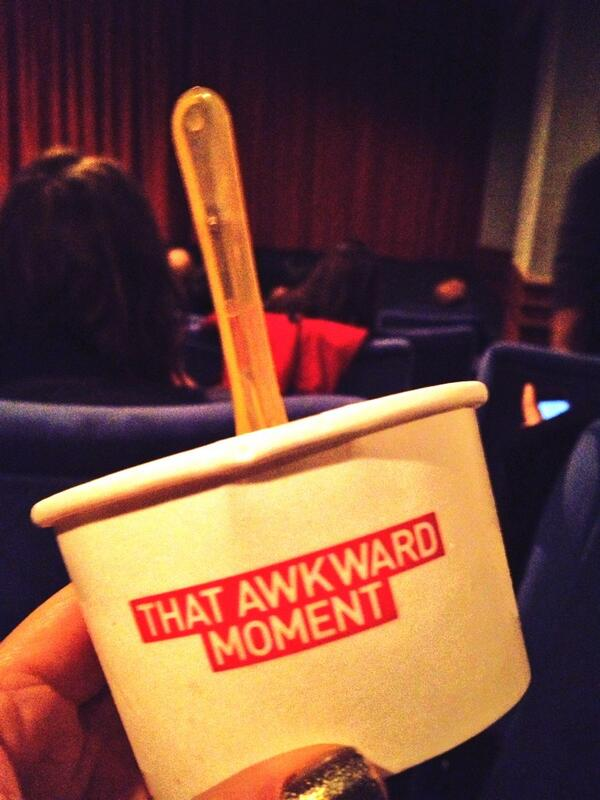 Good screening snacks, @BodeansBBQ hotdogs & salted caramel icecream for #ThatAwkwardMoment with Zac Efron http://t.co/YP7QLwkcwy