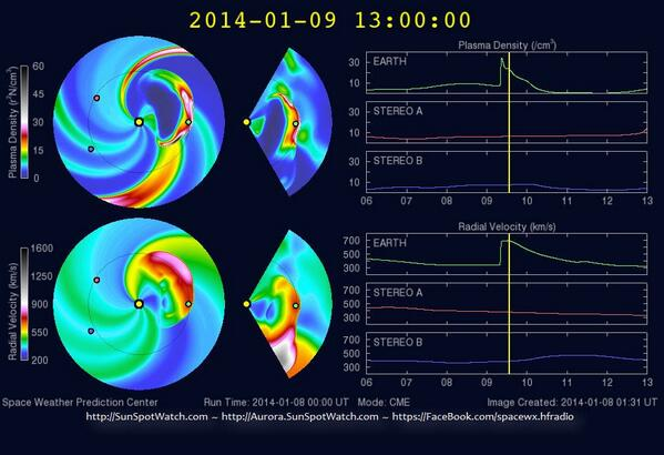 ALERT: CME impact imminent; may arrive at any moment; expect G3 geomagnetic storm #spaceweather #hamr #swl http://t.co/7kLqSLoJZw