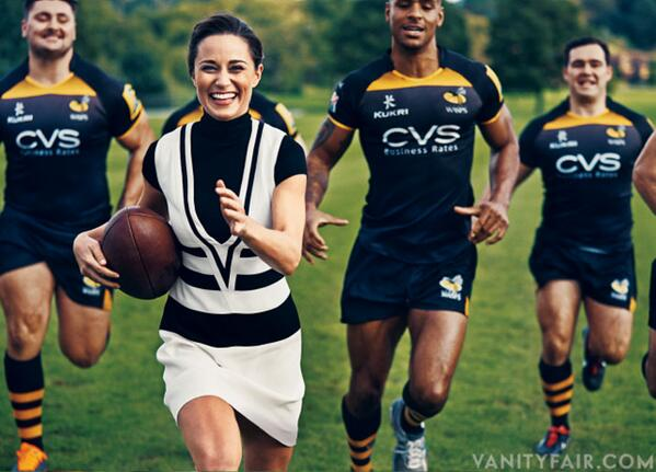 Pippa Middleton. Playing rugby. As she clearly does every weekend ... http://t.co/pqBzOLM2HD