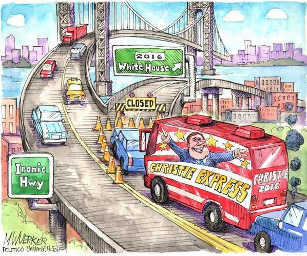The Christie Express: http://t.co/HwcIVXcr9r | Cartoon by Matt @wuerker http://t.co/G6slpANfPo