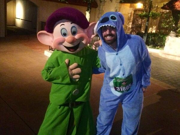 Met Dopey on the course this morning! #DopeyChallenge @runDisney http://t.co/ljed12U0T2