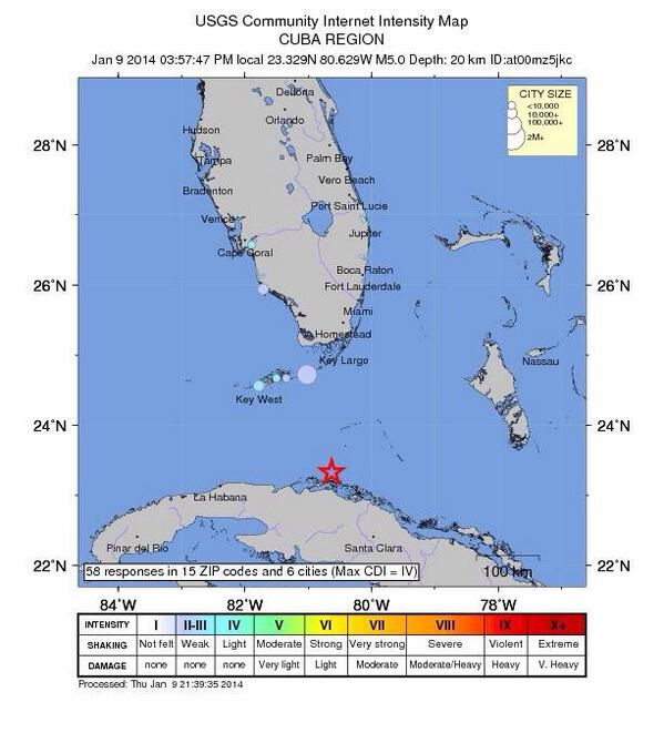 NEW: 5.0 magnitude earthquake rocks coast of Cuba: Sways buildings in Florida http://t.co/QTFoAqf2ex http://t.co/q2rD1RuRmN
