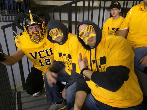 Sitting next to some of the most passionate Ram fans. #LetsGoVCU 🐏 http://t.co/4ntmTeXpHt