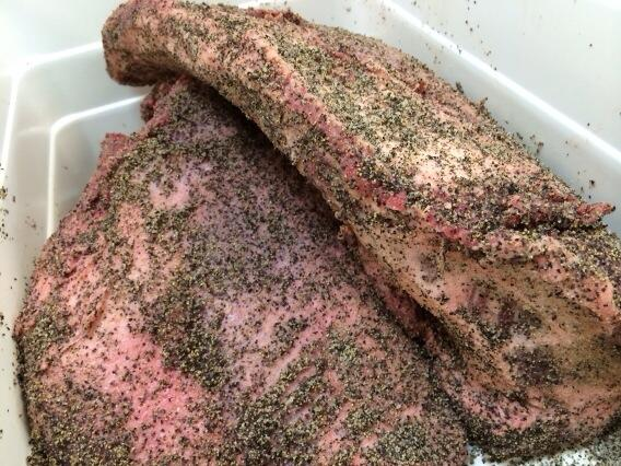 Rubbed briskets for #CampBrisket lunch on Friday! http://t.co/GoJC0KmyC3
