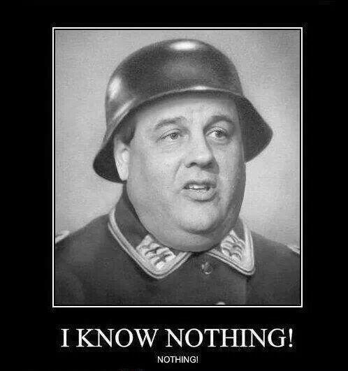 "RT @GeeOhPees2: ""I know nothing! NOTHING!"" - Chris Christie #bridgegate  #UniteBlue #p2 http://t.co/l4fca2NNSx  .@GovChristie"
