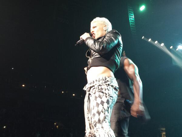 What a show! Thanks @Pink... Worth the wait.  #P!nk #Milwaukee http://t.co/7PENyPBtXq