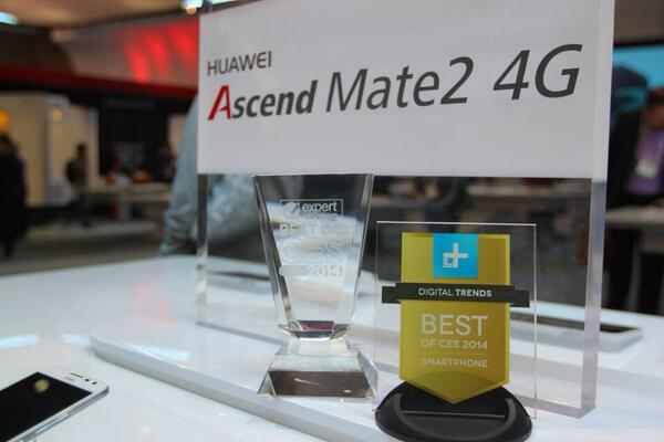 Huawei Ascend Mate 2 gewinnt 2 AWARDS - CES 2014
