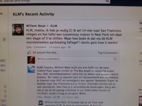 .@KLM snapt hoe social media werkt. Top dit! http://t.co/eT93KE85W5