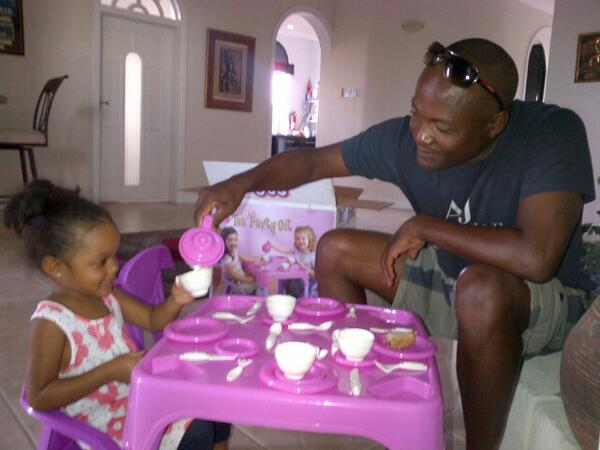 Photo of Brian Lara & his  Daughter  Tyla Lara