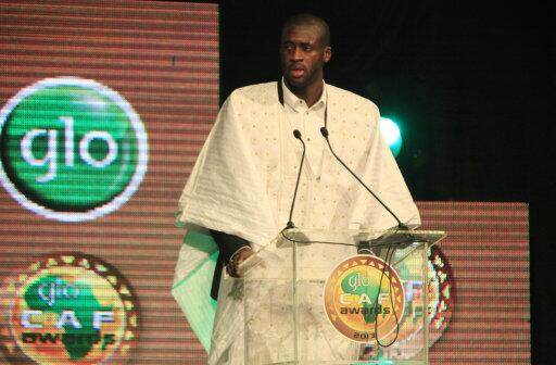 Yaya Toure wins African Player of the Year 2013 dressed in traditional Ivorian clothing