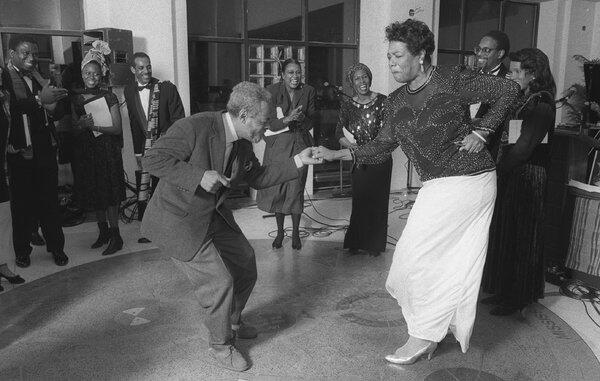 Amiri Baraka dancing with Maya Angelou in 1991: http://t.co/SMkDO8IZsc http://t.co/g9FD5FkVIF