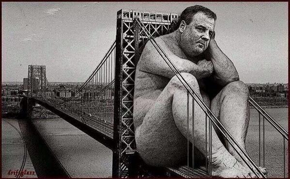Can't…un…see… RT @AgainstTeaParty: Chris Christie.. Too big for his bridges..  #Christie #Bridgegate #p2 http://t.co/a5u4NmeclZ