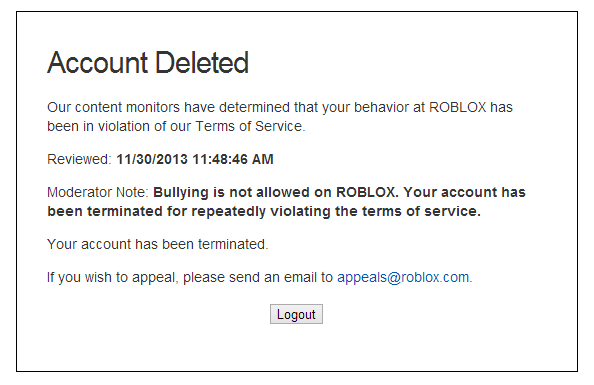 how to get roblox to like your ban appeal