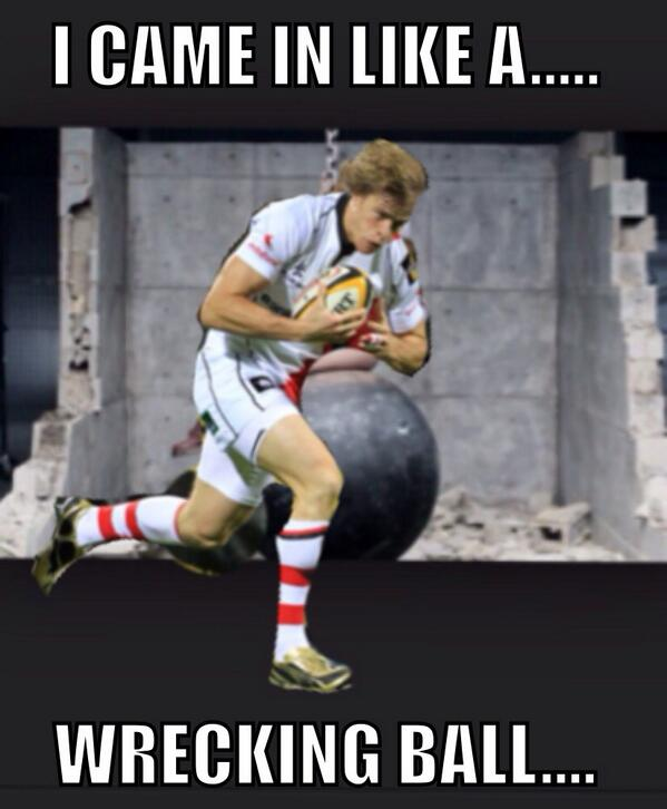 Felling much better this morning, thanks for the messages! Cheers Trimby... #fathead @andrew_trimble http://t.co/PREqZ1xR84