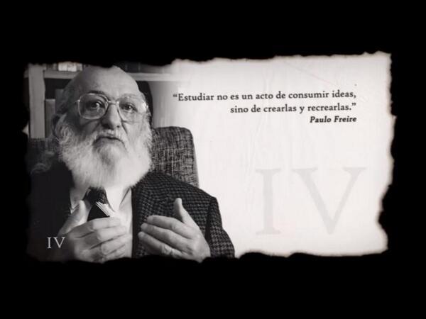 """""""Estudiar no es un acto de consumir ideas, sino de crearlas y recrearlas"""" Freire #eduPLEmooc https://t.co/34yEblGcxe http://t.co/XYEjT9QhhW"""