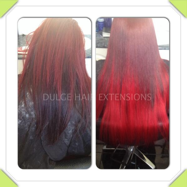 Dulge Hair Extension On Twitter Going From Dull Red To Bright Red