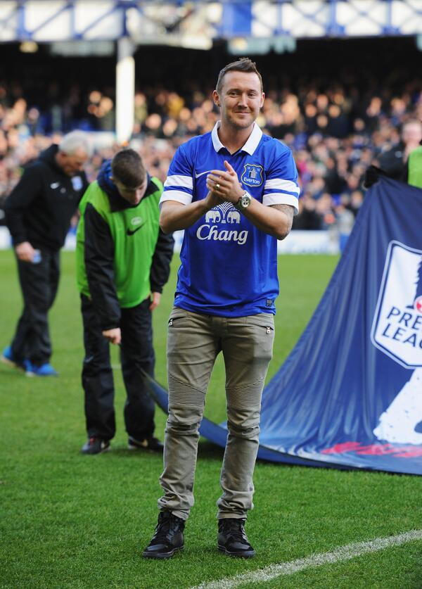 Everton unveil new signing Aiden McGeady at Goodison Park