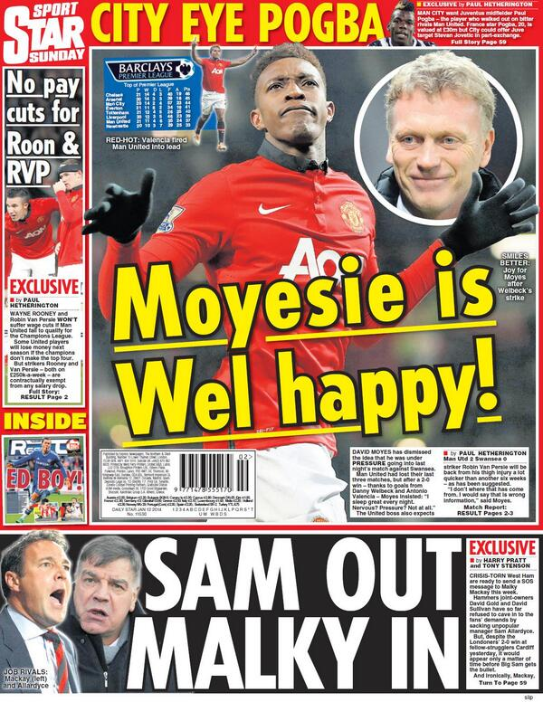 Man City eyeing former Man United youngster Paul Pogba, rated at £30m [Daily Star Sunday]