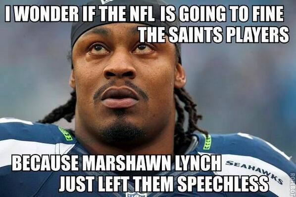 Marshawn Lynch was the best today, no need to talk, just play and score @Seahawks @MoneyLynch http://t.co/qyc6T0MAzJ