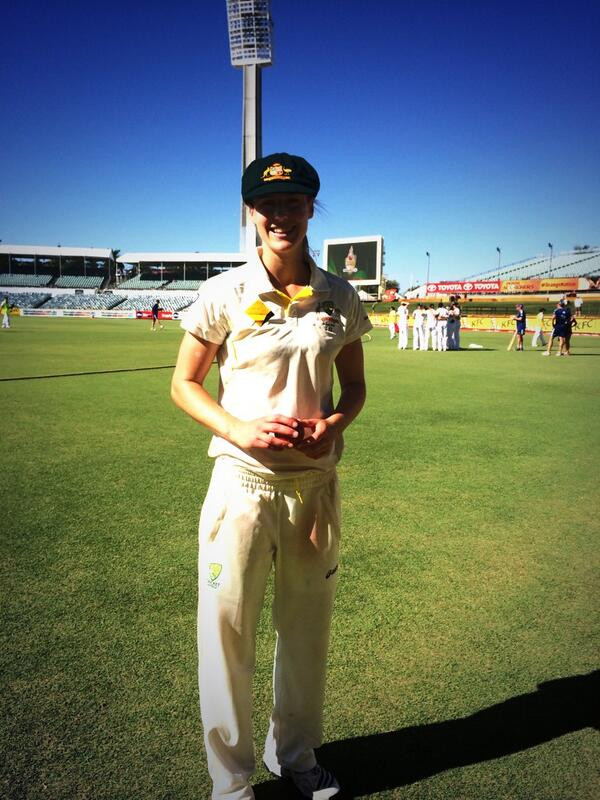 """@SouthernStars: Ellyse Perry with the ball she took 5-38 with in the second innings #WomensAshes #UniteAus http://t.co/WACiiEWwPH"" freak!"