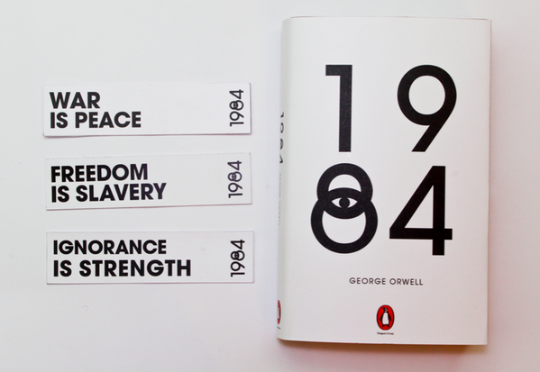 My Bookcover redesign for #1984. Let me know what you think https://t.co/XDPCXVkCPQ http://t.co/Zh4grEl0zn