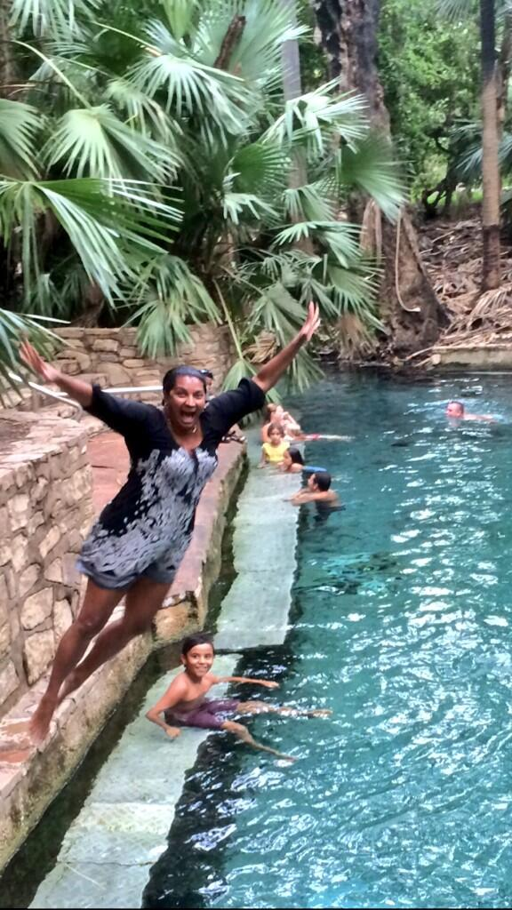 Hubby dared me 2 jump into #MatarankaHotSprings fully clothed today...so i did! @TopEndTweets @TourismTopEnd #random http://t.co/j12uVB4k7i