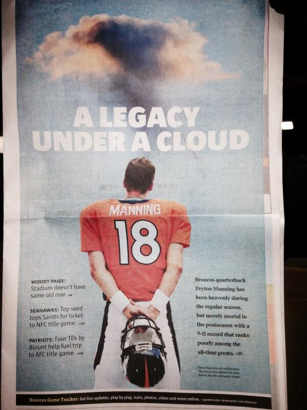 Wow. Front page of #DenverPost special playoff section. http://t.co/ywMqlMzYy8